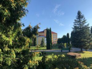 Sanatorium's territory park